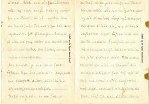 A letter from Rosie in Vught, 1943