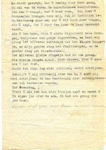 A letter from Rosie in Camp Westerbork, 1943
