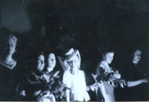 69a Cabaret at the reception center in Sweden (Rosie far left)
