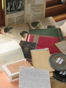 A portion of Rosie's wartime archive, which included letters, scrapbooks, and films