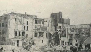 Rotterdam after bombing, 1940