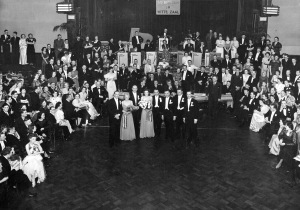 Rosie in the Vereeniging dressed in her white ball gown (seated, foreground left)