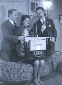 Rosie and friends with an illegal radio, 1941