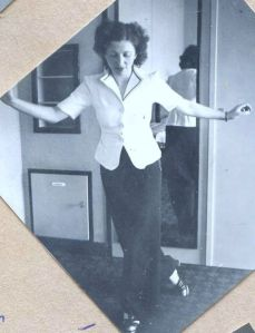 Rosie demonstrating a new dance step, 1941