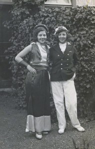 Rosie with her friend Lydia, 1932