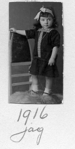 Rosie at age two, 1916