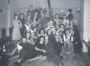 Rosie's attic, 1942, Rosie third from right in back