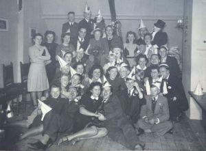 Rosie's attic, 1942, Rosie third from right in back