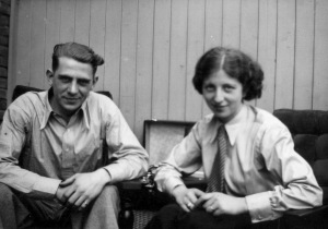 Rosie and Wim at home on a Sunday morning, 1936