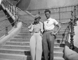 Rosie and Wim in Blankenberg, Belgium, 1936