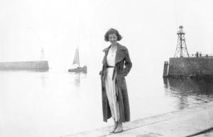 Rosie at the harbor of Scheveningen, 1936