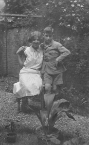 Rosie and her brother John, 1931