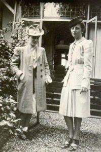Rosie with friend Mimi van Dam, October 1940
